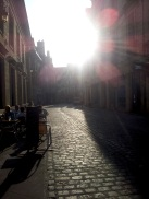 Cobbled-stone streets!