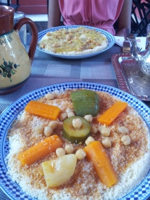 Moroccan food after all the breadiness!