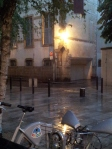 Rains in Dijon give the whole place another feel.