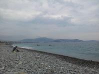Cloudy skies in Nice.