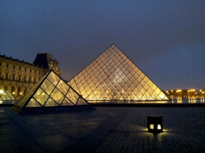 Freezing at the Louvre.